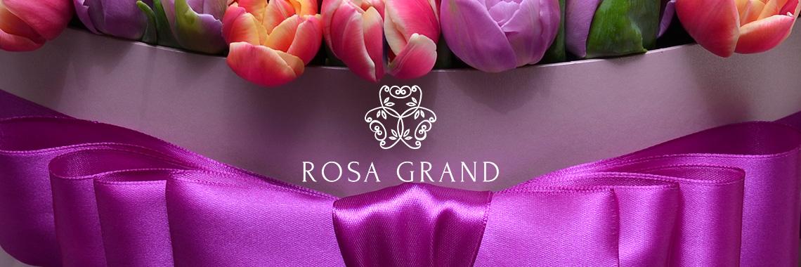 Цветы в шляпных коробках - Rosa Grand СПб